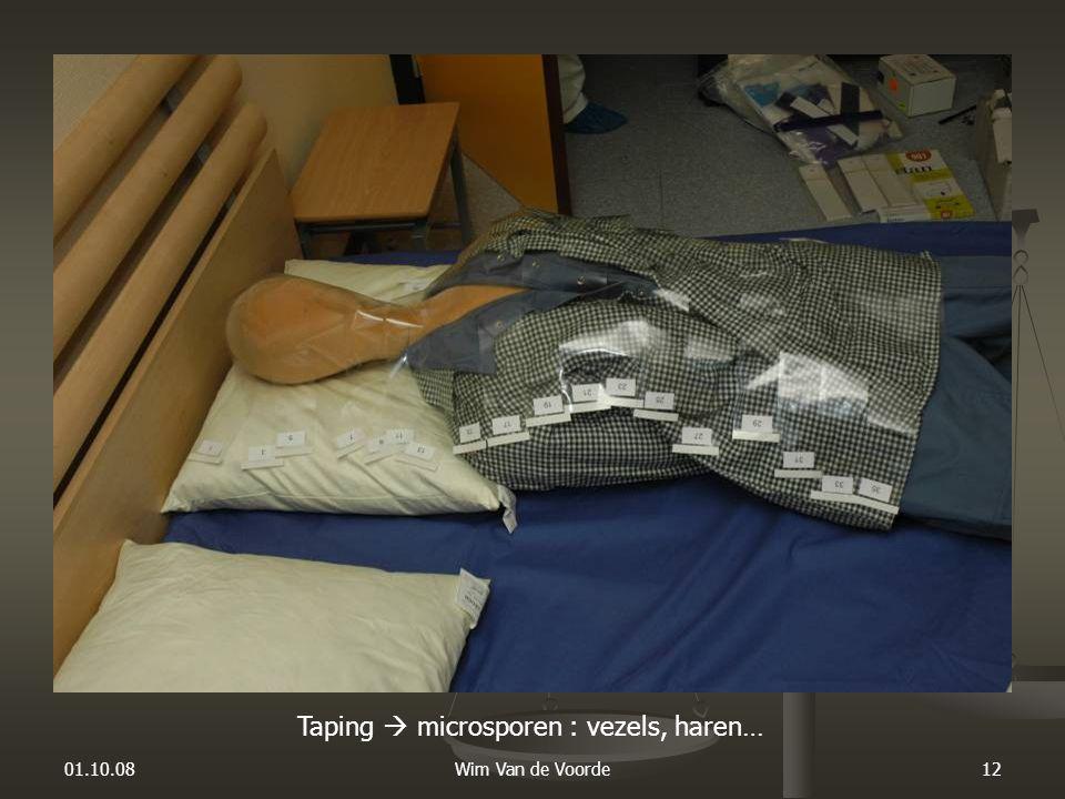 01.10.08Wim Van de Voorde12 Taping  microsporen : vezels, haren…
