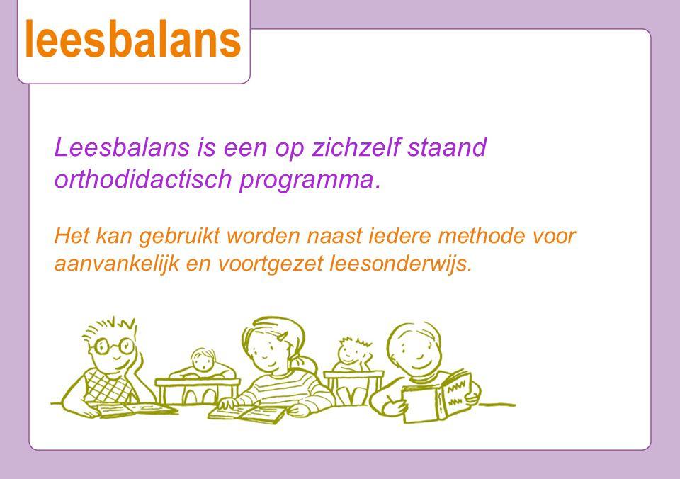 Leesbalans is een op zichzelf staand orthodidactisch programma. Het kan gebruikt worden naast iedere methode voor aanvankelijk en voortgezet leesonder