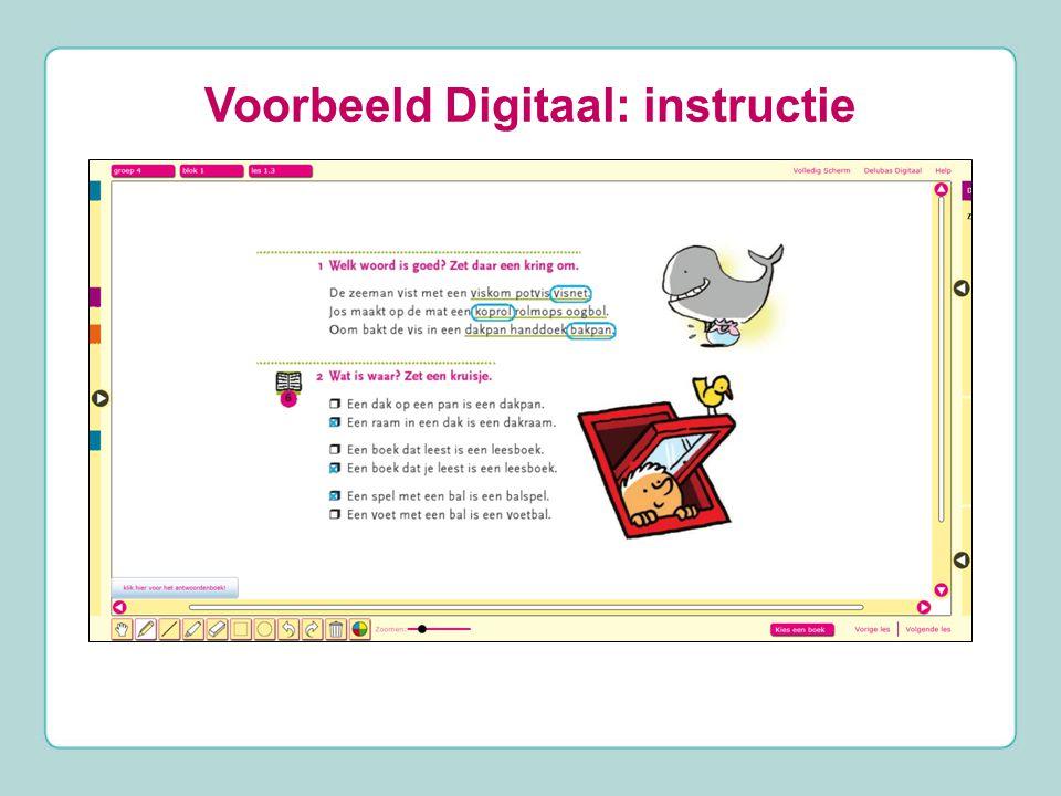 Voorbeeld Digitaal: instructie