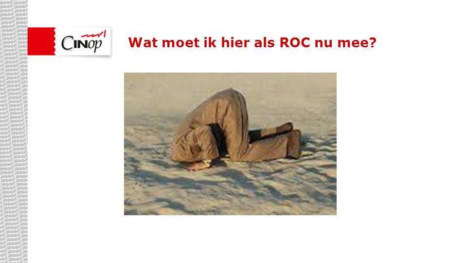 Wat moet ik hier als ROC nu mee?