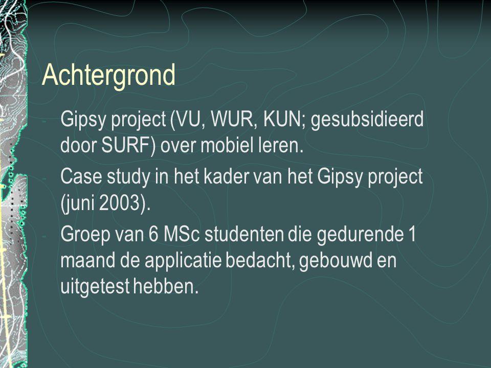 Achtergrond - Gipsy project (VU, WUR, KUN; gesubsidieerd door SURF) over mobiel leren.