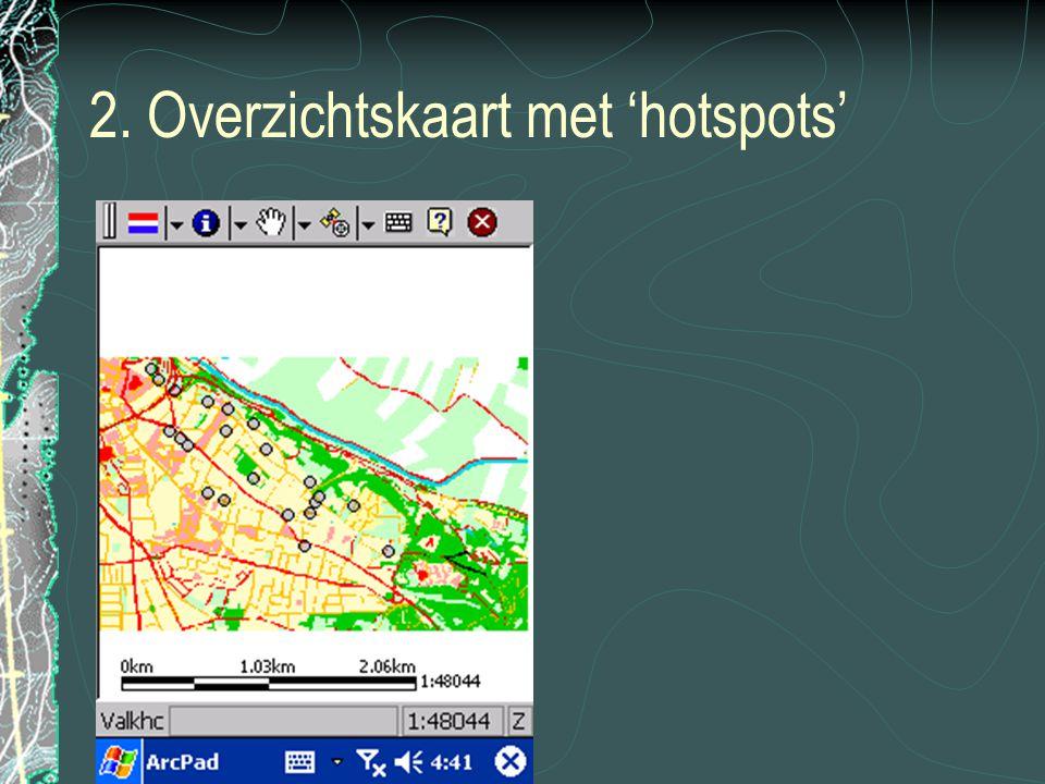 2. Overzichtskaart met 'hotspots'