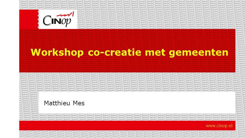 Workshop co-creatie met gemeenten Matthieu Mes