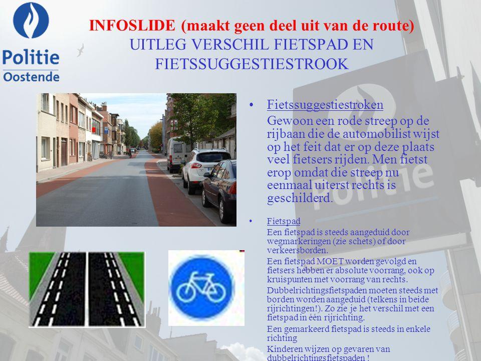 CP25 VERTREKPUNT ROUTE Sportcentrum 'De Spuikom' DOKTER EDUARD MOREAUXLAAN OPGEPAST: het examen start vanaf het vertrekpunt.
