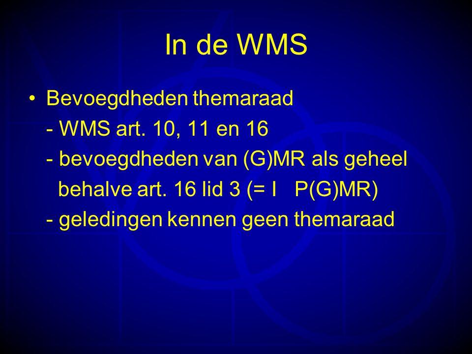 In de WMS Bevoegdheden themaraad - WMS art.