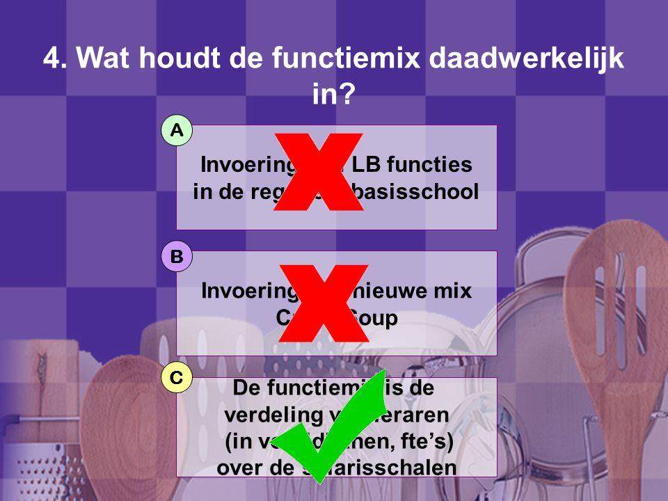 4.Wat houdt de functiemix daadwerkelijk in.