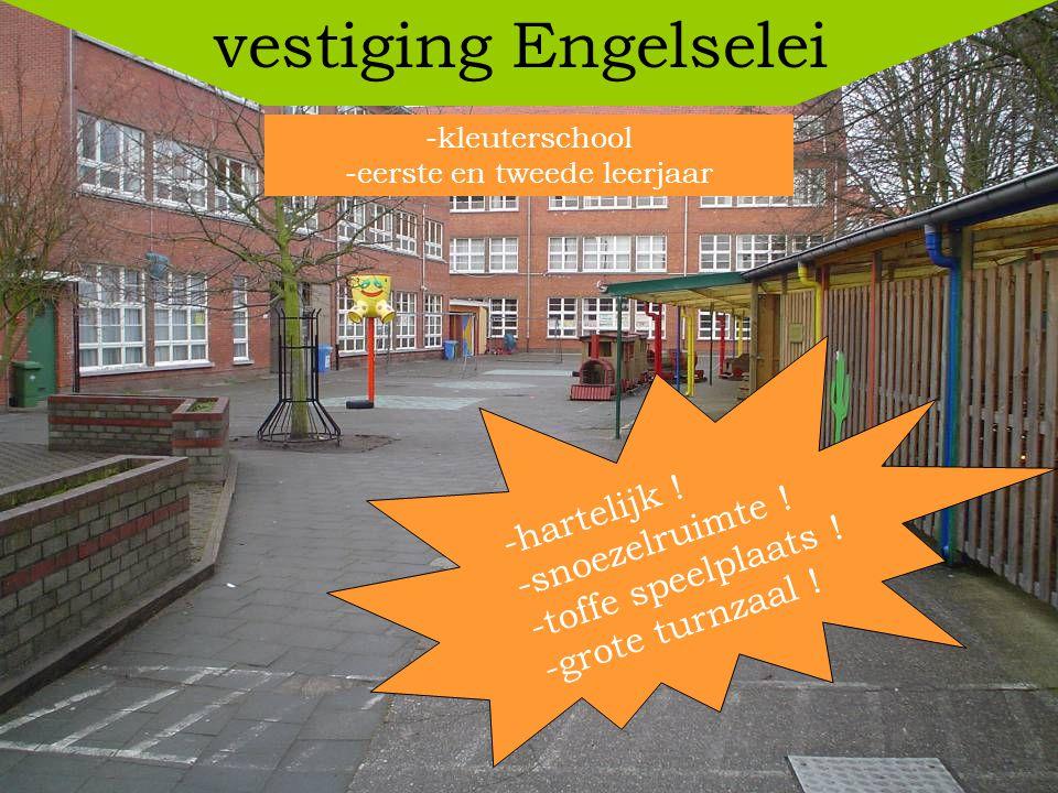 vestiging Pastoor Vandenhoudtstraat 3de, 4de, 5de en 6de leerjaar -ruime klaslokalen .