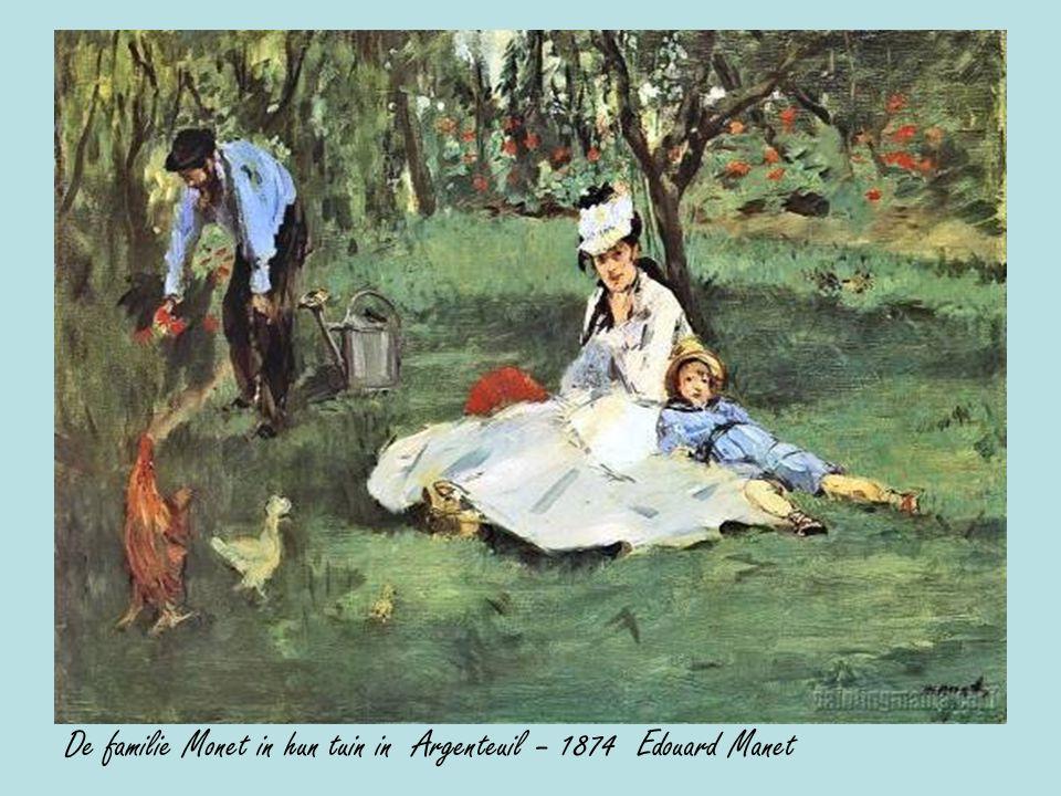De familie Monet in hun tuin in Argenteuil – 1874 Edouard Manet