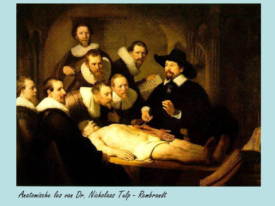 Anatomische les van Dr. Nicholaas Tulp - Rembrandt