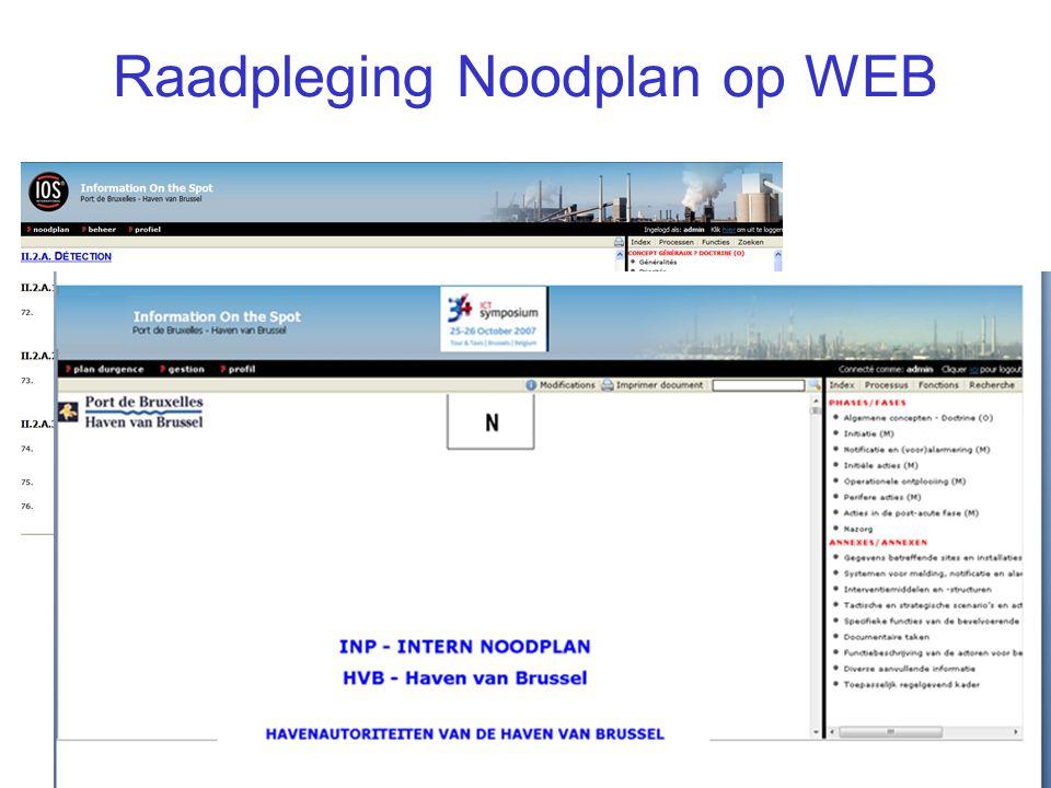 IOS Presentatie39/ Raadpleging Noodplan op WEB
