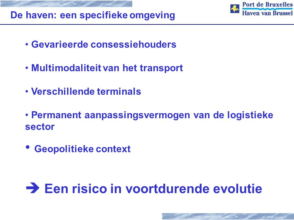 Voorbeeld INP Haven van Brussel SEPP methodologie