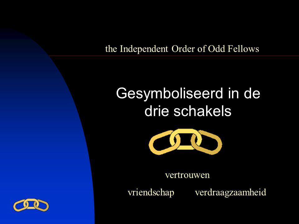 the Independent Order of Odd Fellows Gesymboliseerd in de drie schakels vriendschap vertrouwen verdraagzaamheid