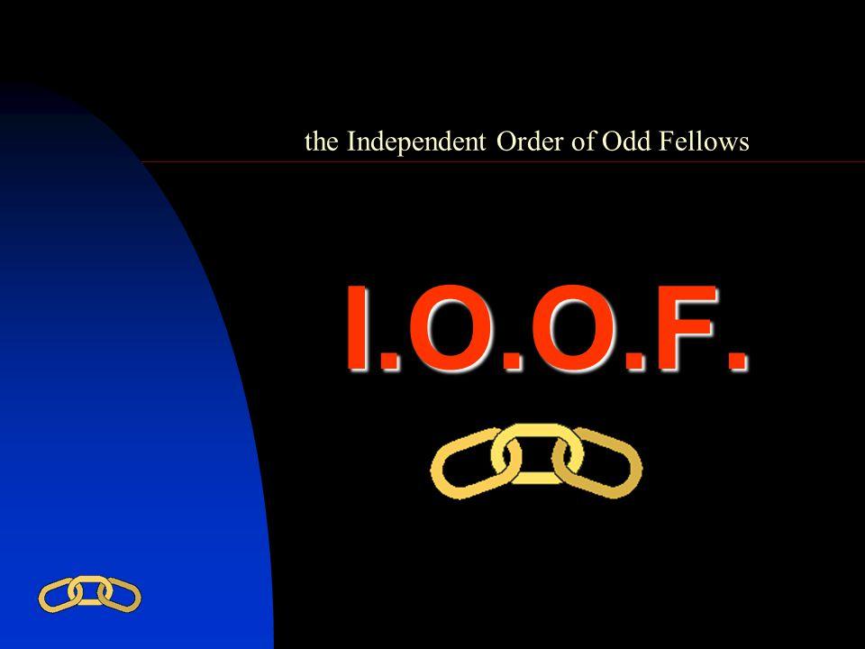 the Independent Order of Odd Fellows 1.vriendschap geven en aanvaarden, 2.
