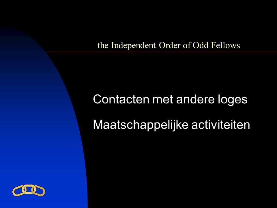 the Independent Order of Odd Fellows Maatschappelijke activiteiten Contacten met andere loges