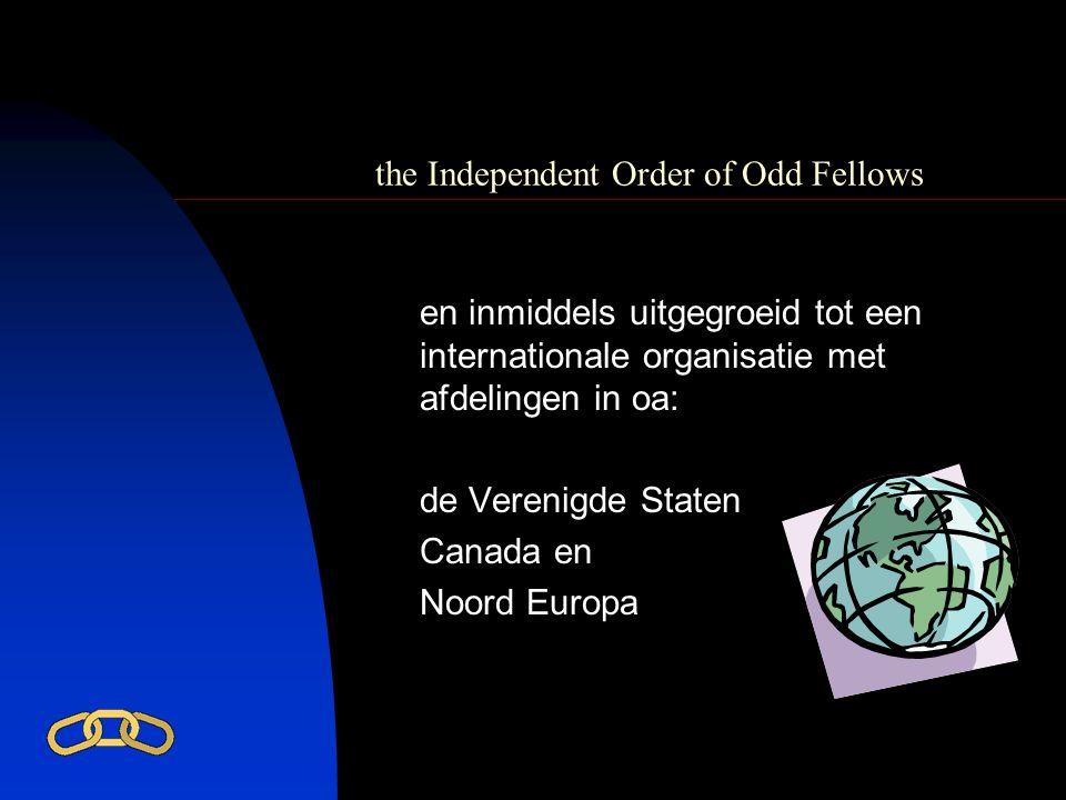 the Independent Order of Odd Fellows In Nederland zijn er ruim 100 loges: 60 mannenloges, 40 vrouwenloges en 1 gemengde loge