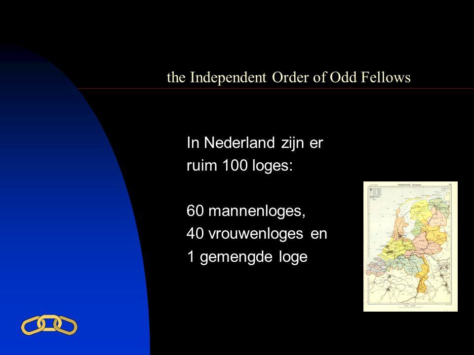 the Independent Order of Odd Fellows In Nederland vindt u de meeste loges in het Noorden : 23 in Noord Holland 20 in Groningen 12 in Drente 11 in Friesland