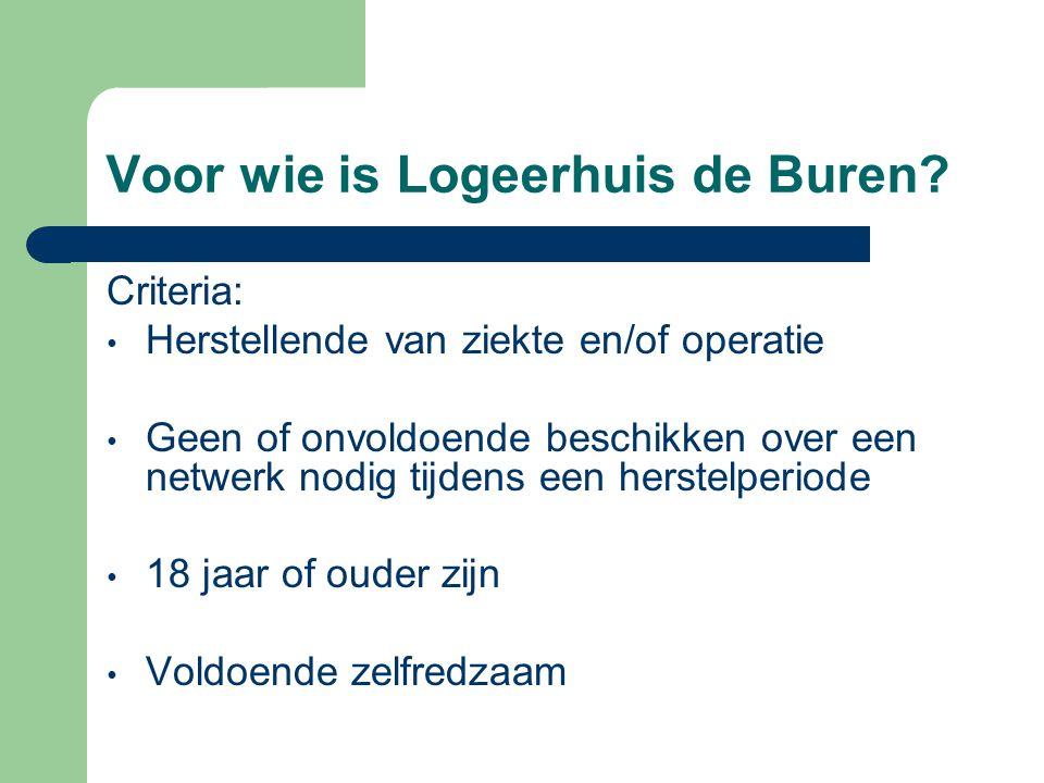 Voor wie is Logeerhuis de Buren.
