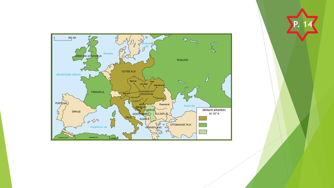 GeallieerdenCentralen Rusland Frankrijk Engeland Servië (en Montenegro) België Japan Amerika  In totaal 28 landen Duitsland Oostenrijk-Hongarije Italië Ottomaanse rijk (Turkije) Bulgarije P.