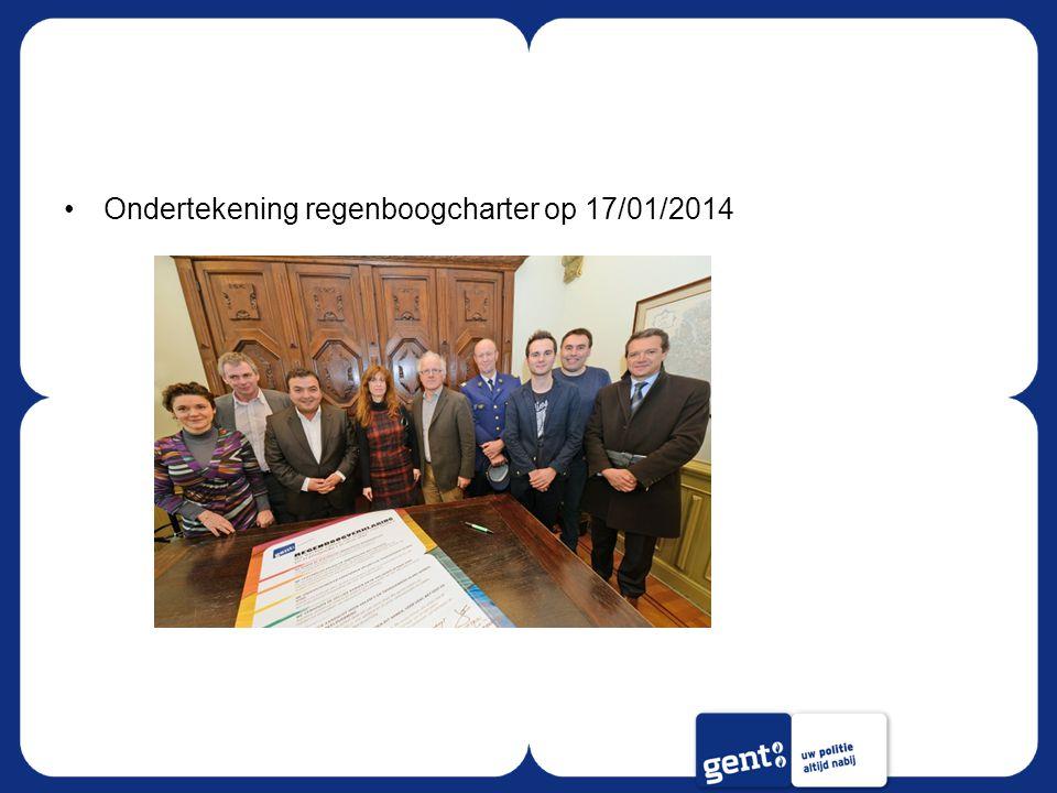 Ondertekening regenboogcharter op 17/01/2014