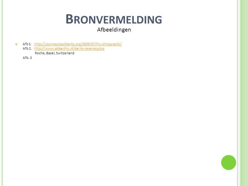 B RONVERMELDING Afb 1. http://journeytosolidarity.org/2009/07/hiv-chiropractic/ Afb 2. http://www.aidsenhiv.nl/de-hiv-levenscyclus Roche, Basel, Switz