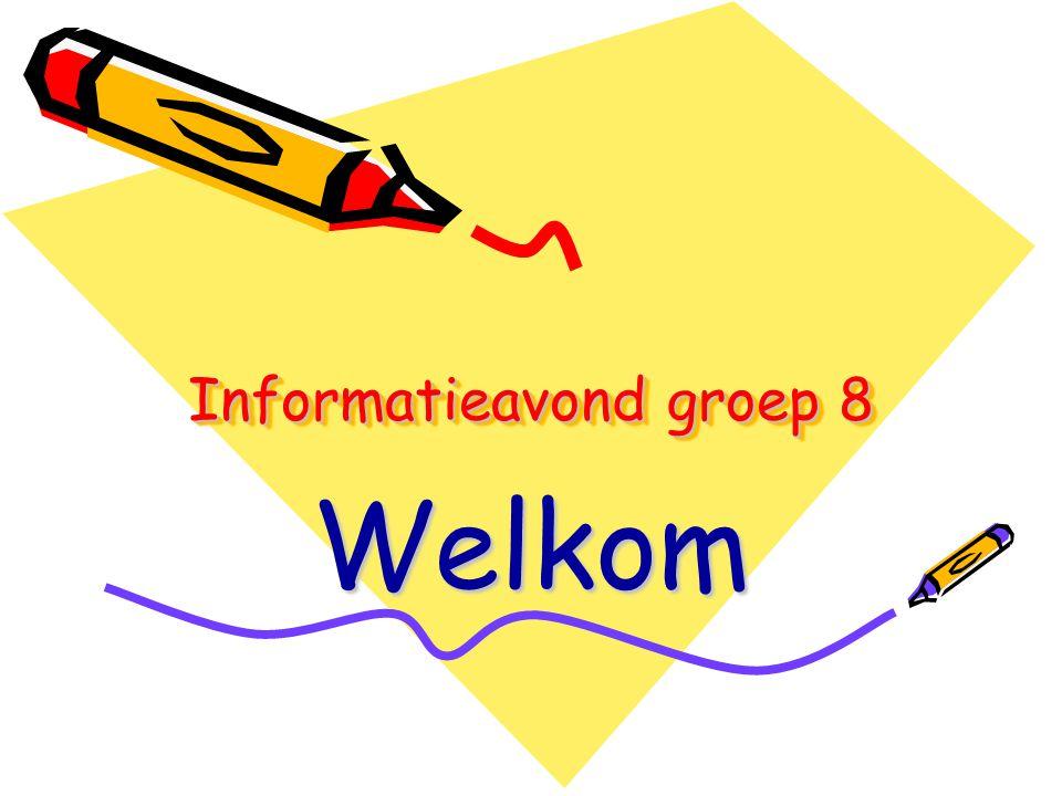 Informatieavond groep 8 Welkom