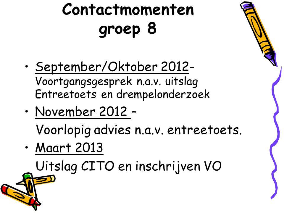 September/Oktober 2012- Voortgangsgesprek n.a.v.