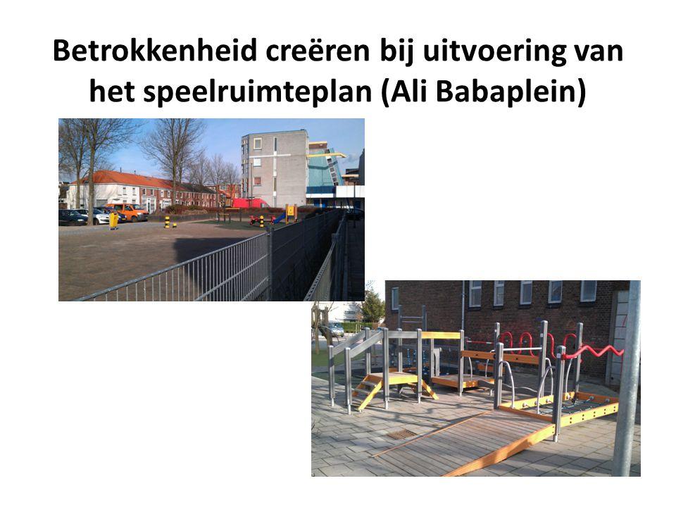 Betrokkenheid creëren bij uitvoering van het speelruimteplan (Ali Babaplein)