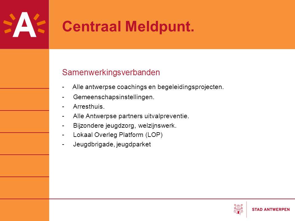 Centraal Meldpunt Peilers Procesbegeleiding Onderzoek -Dataverzameling CMP -Spijbelcijfers -Bijkomende steekproeven ism hoge scholen, universiteiten Netwerk stroomlijnen = cruciaal