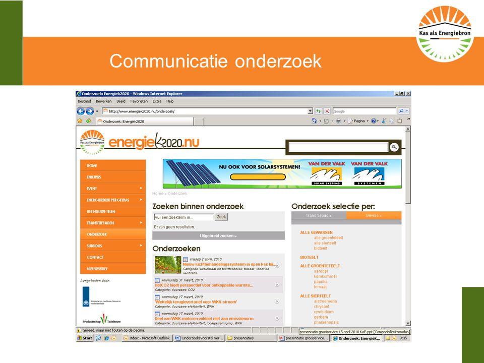 Communicatie onderzoek