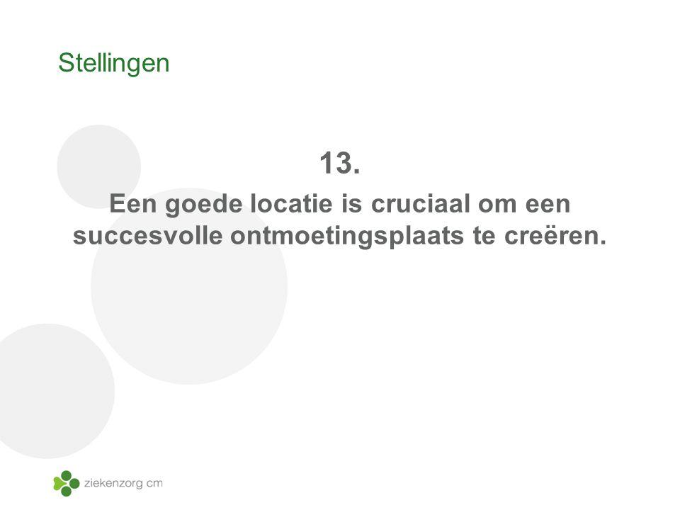 Stellingen 13. Een goede locatie is cruciaal om een succesvolle ontmoetingsplaats te creëren.