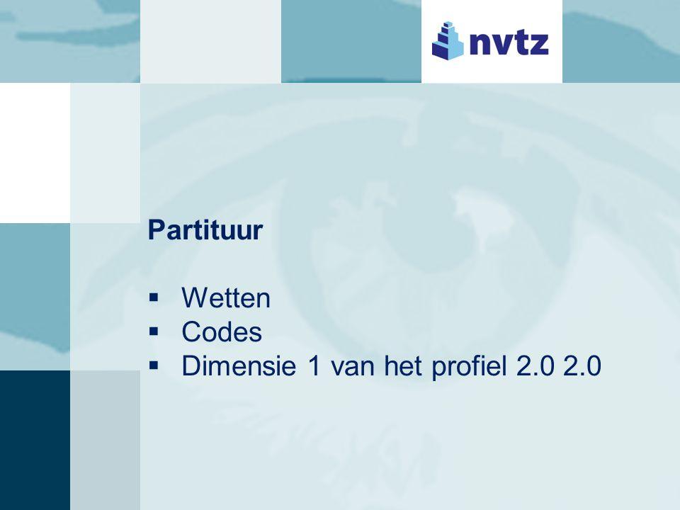 Partituur  Wetten  Codes  Dimensie 1 van het profiel 2.0 2.0