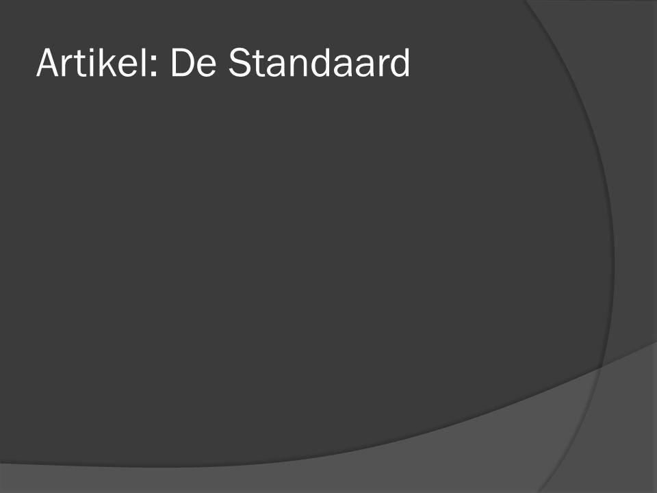 Artikel: De Standaard