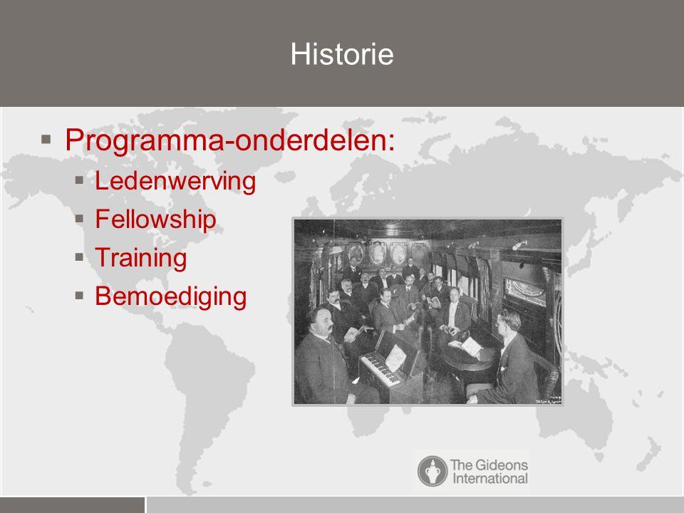  15 actieve Camps (2 in oprichting)  Herziene Staten Vertaling  Ruim 100 leden  Landelijk coördinator Gideons Nederland De Nederlandse Bijbelvereniging richt zich op hotels in Nederland