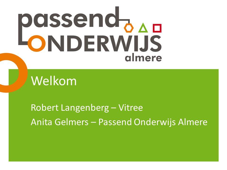 Welkom Robert Langenberg – Vitree Anita Gelmers – Passend Onderwijs Almere