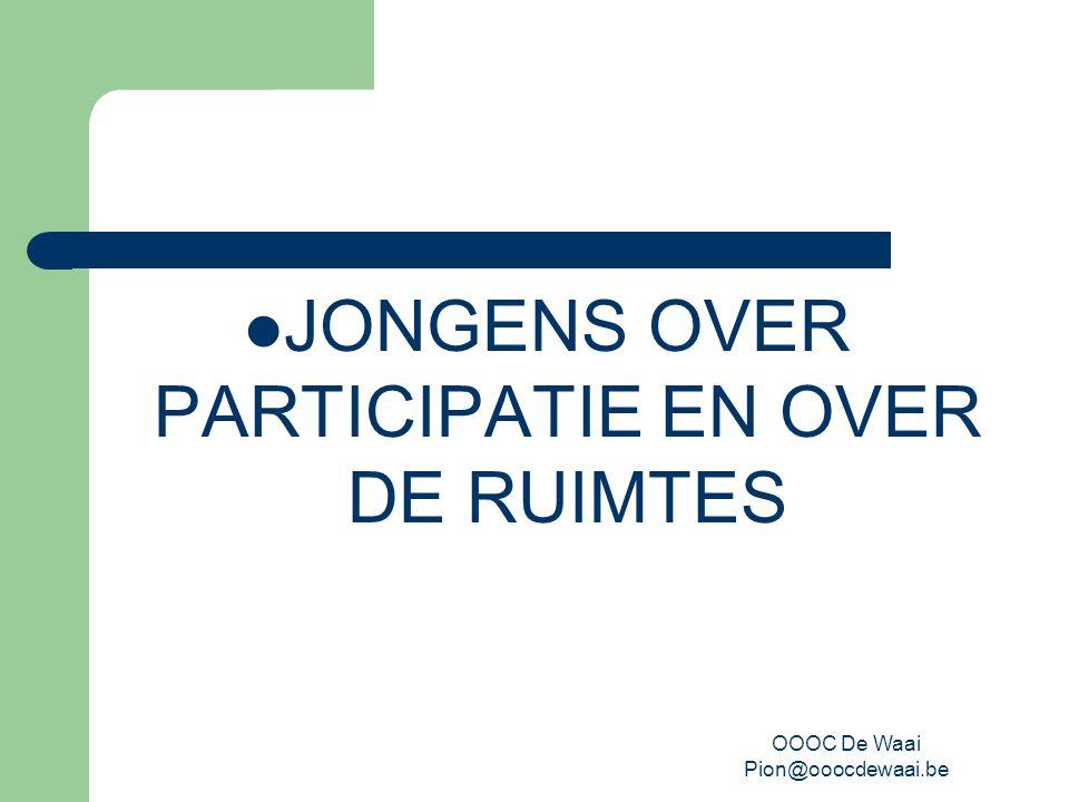 OOOC De Waai Pion@ooocdewaai.be JONGENS OVER PARTICIPATIE EN OVER DE RUIMTES
