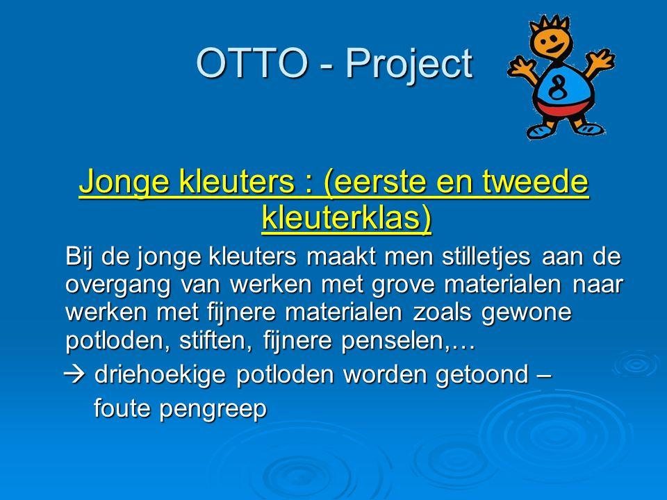 OTTO - Project Jonge kleuters : (eerste en tweede kleuterklas) Bij de jonge kleuters maakt men stilletjes aan de overgang van werken met grove materia