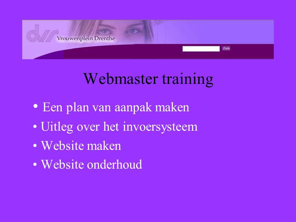 –Van html pagina's naar beheren van websites –Van creatie naar beheer –Van één naar meerdere webmasters –Gebruik van bestaande databases Content Manag