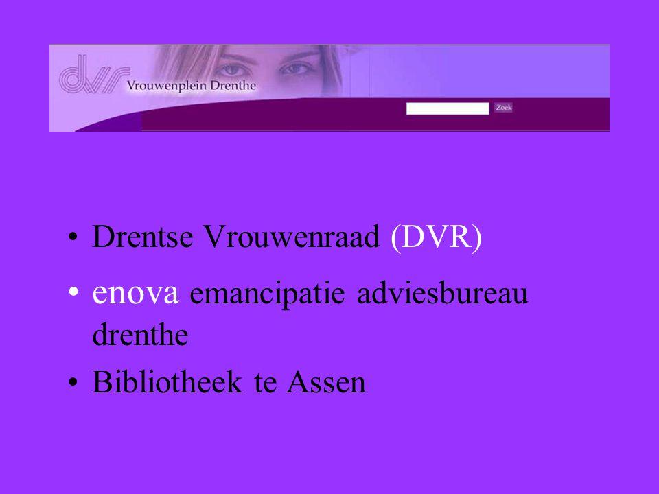 Drentse Vrouwenraad (DVR) enova emancipatie adviesbureau drenthe Bibliotheek te Assen
