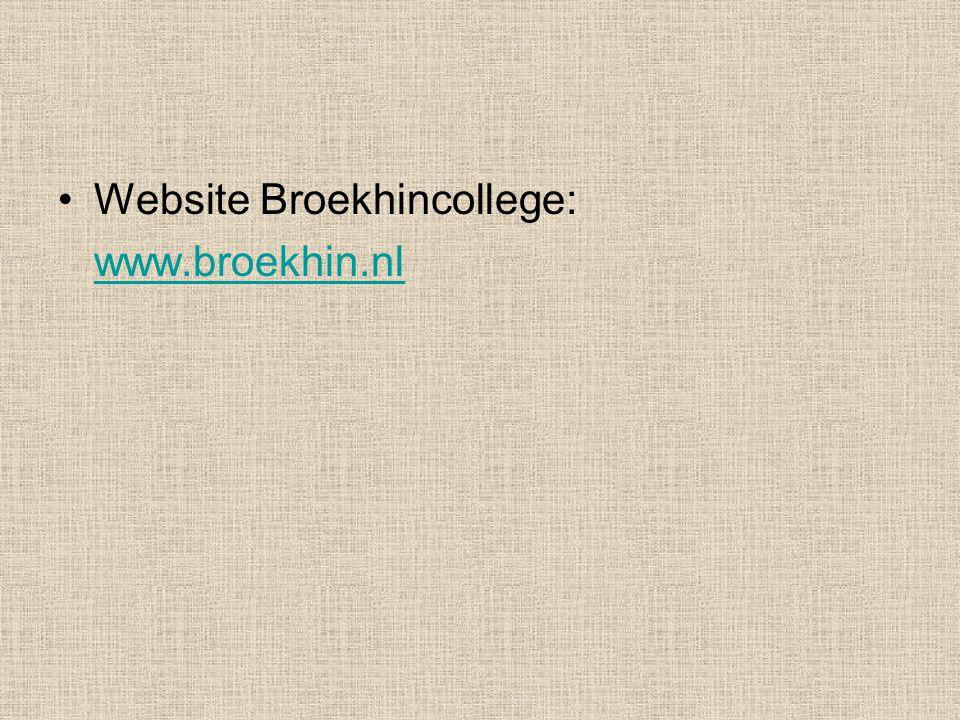 Website Broekhincollege: www.broekhin.nl