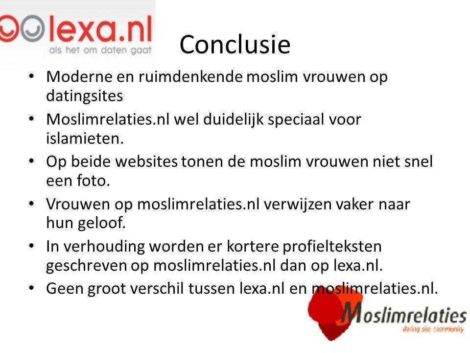 Conclusie Moderne en ruimdenkende moslim vrouwen op datingsites Moslimrelaties.nl wel duidelijk speciaal voor islamieten. Op beide websites tonen de m