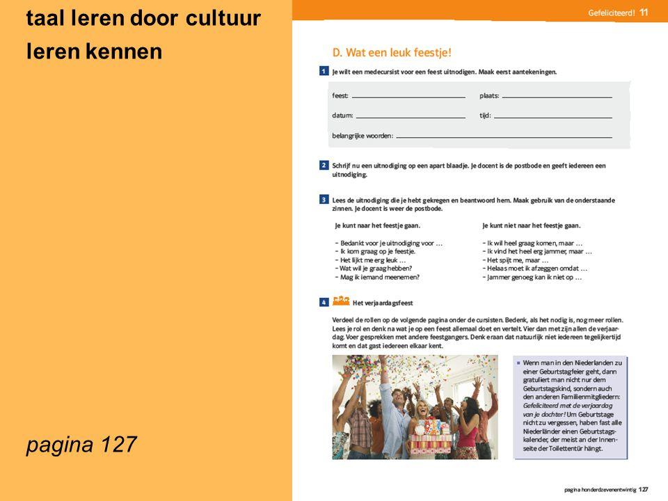 taal leren door cultuur leren kennen pagina 127
