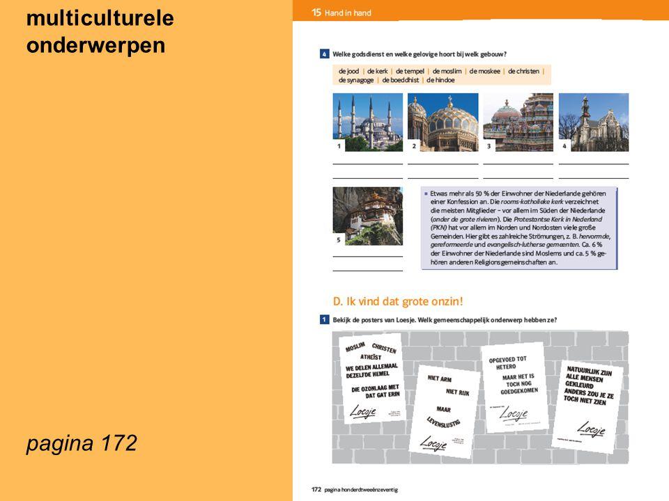 multiculturele onderwerpen pagina 172