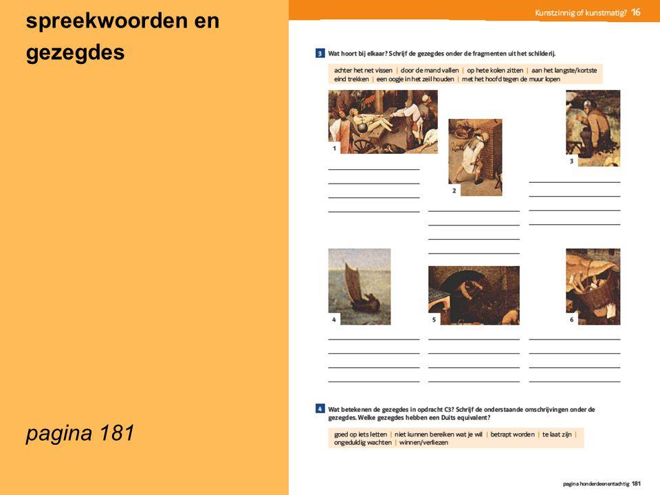 spreekwoorden en gezegdes pagina 181