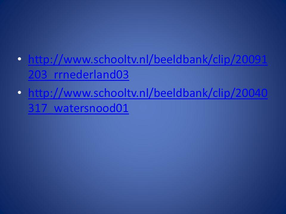 http://www.schooltv.nl/beeldbank/clip/20091 203_rrnederland03 http://www.schooltv.nl/beeldbank/clip/20091 203_rrnederland03 http://www.schooltv.nl/beeldbank/clip/20040 317_watersnood01 http://www.schooltv.nl/beeldbank/clip/20040 317_watersnood01