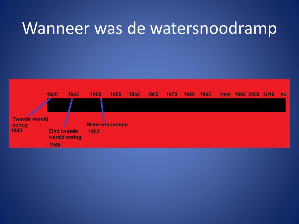 Wanneer was de watersnoodramp
