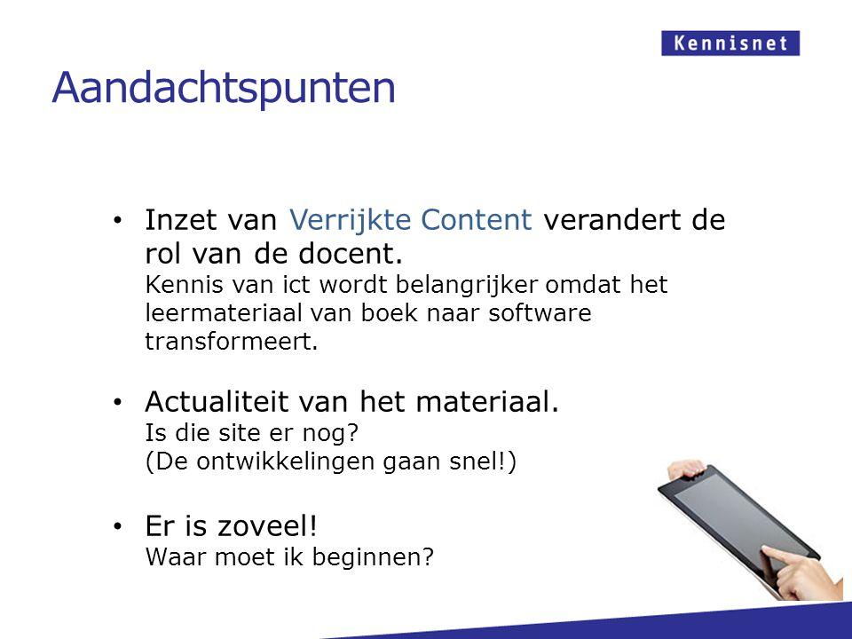 Inzet van Verrijkte Content verandert de rol van de docent.