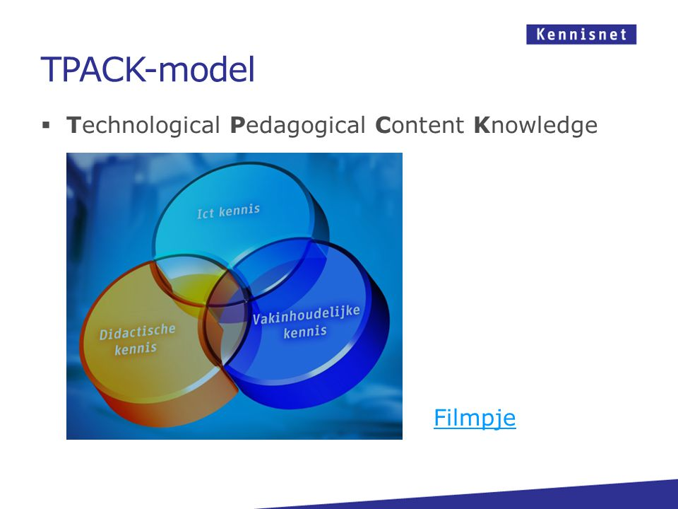 TPACK-model  Technological Pedagogical Content Knowledge Filmpje