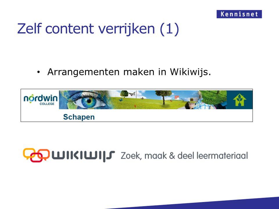 Arrangementen maken in Wikiwijs. Zelf content verrijken (1)