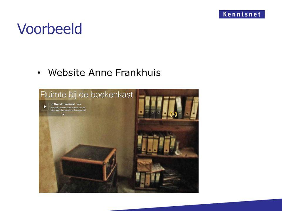 Website Anne Frankhuis Voorbeeld