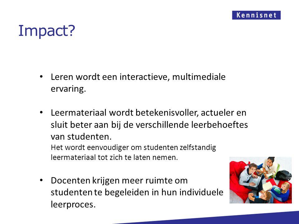Leren wordt een interactieve, multimediale ervaring.